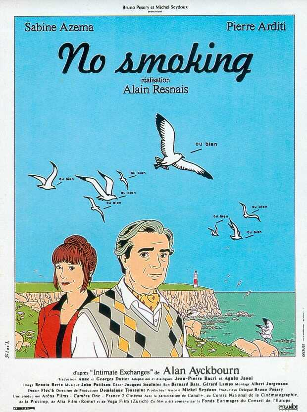 "poster for ""No Smoking"" by Alain Resnais(1993)"