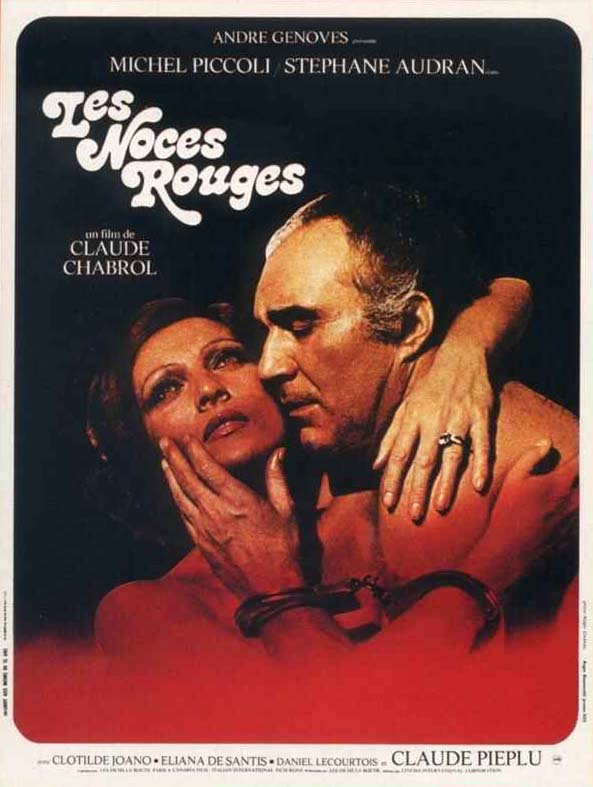 "poster for ""Noces Rouges, Les"" by Claude Chabrol(1973)"