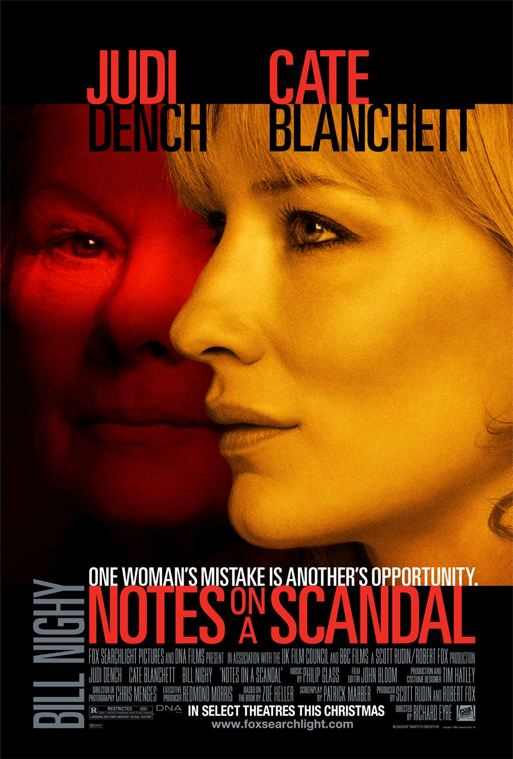 "poster for ""Notes on a Scandal"" by Richard Eyre(2006)"