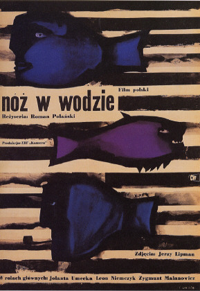 "poster for ""Noz w wodzie  (Knife in the Water)"" by Roman Polanski(1962)"