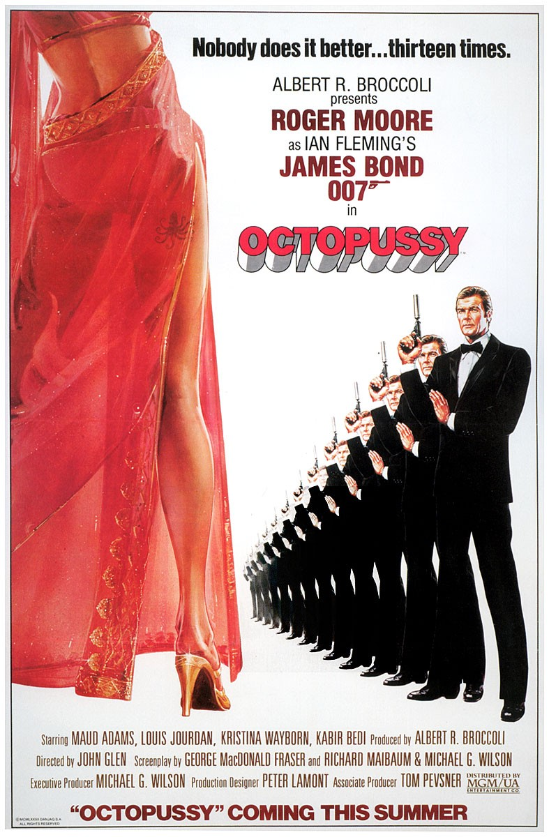 "poster for ""Octopussy"" by John Glen(1983)"