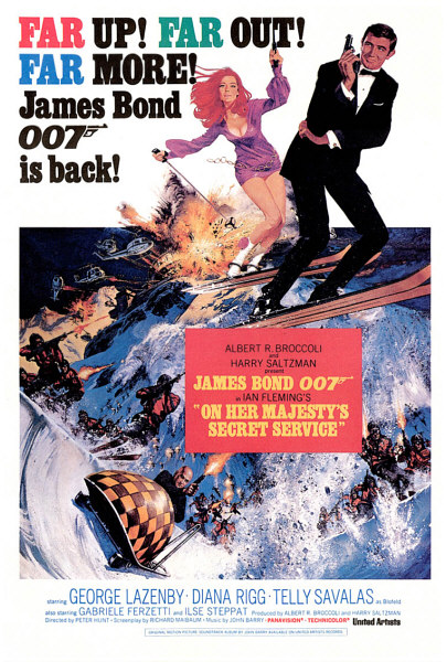 "poster for ""On Her Majesty's Secret Service"" by Peter R. Hunt(1969)"