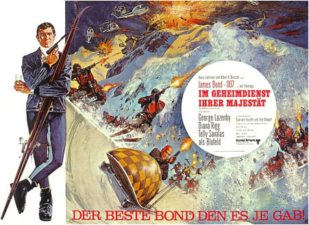 "poster for ""On Her Majesty's Secret Service&quot"