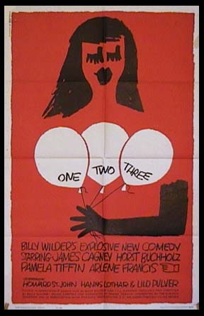 "poster for ""One, Two, Three"" by Billy Wilder(1961)"