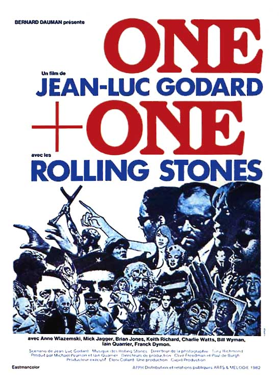 "poster for ""One Plus One (Sympathy for the Devil)"" by Jean-Luc Godard (1968)"