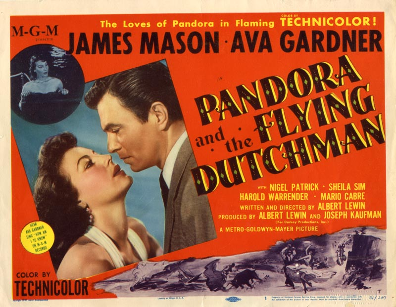 "poster for ""Pandora and the Flying Dutchman&quot"