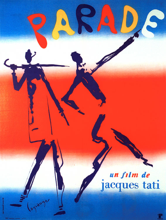 "poster for ""Parade"" by Jacques Tati(1974)"