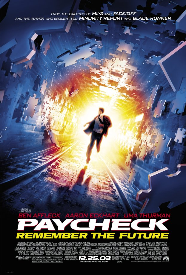 "poster for ""Paycheck"" by John Woo(2003)"