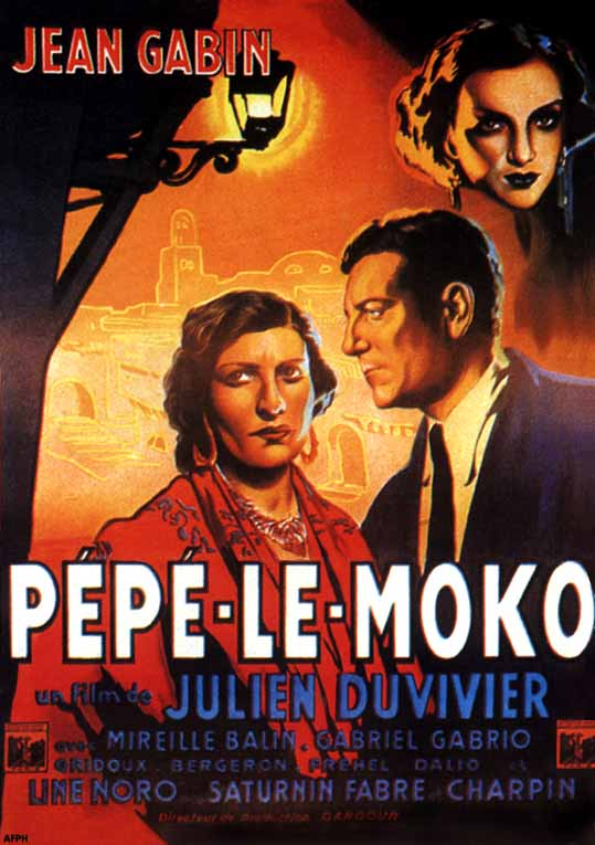 "poster for ""P�p� le Moko"" by Julien Duvivier(1937)"