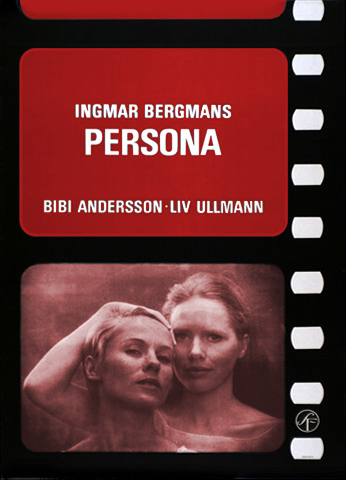 "poster for ""Persona"" by Ingmar Bergman (1966)"