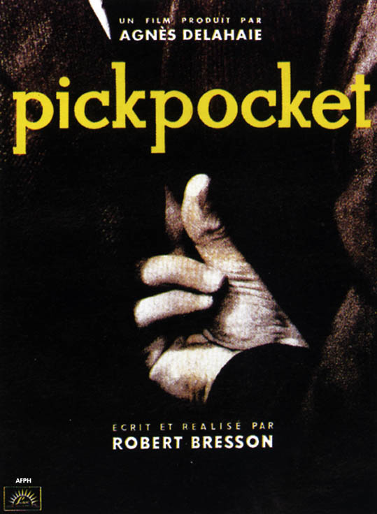 "poster for ""Pickpocket"" by Robert Bresson(1959)"