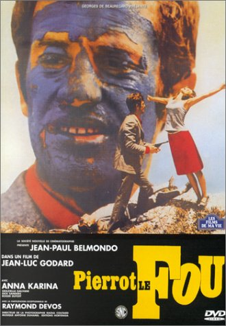"poster for ""Pierrot le fou (Crazy Pete (US), Pierrot Goes Wild (US)&quot"