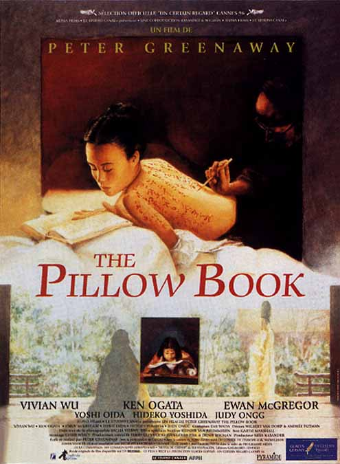 "poster for ""Pillow Book, The"" by Peter Greenaway (1996)"