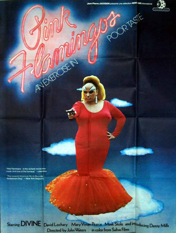 "poster for ""Pink Flamingos"" by John Waters(1972)"