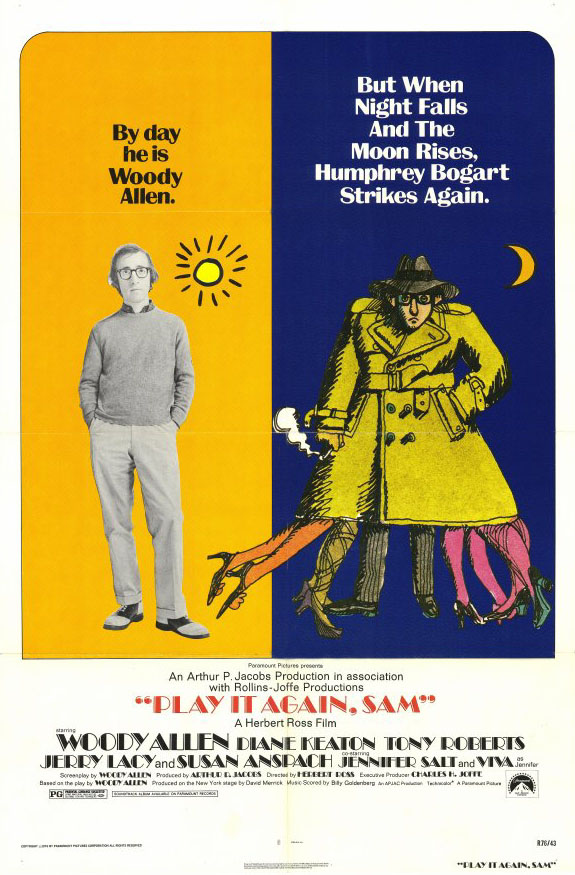 "poster for ""Play It Again, Sam"" by Herbert Ross(1972)"