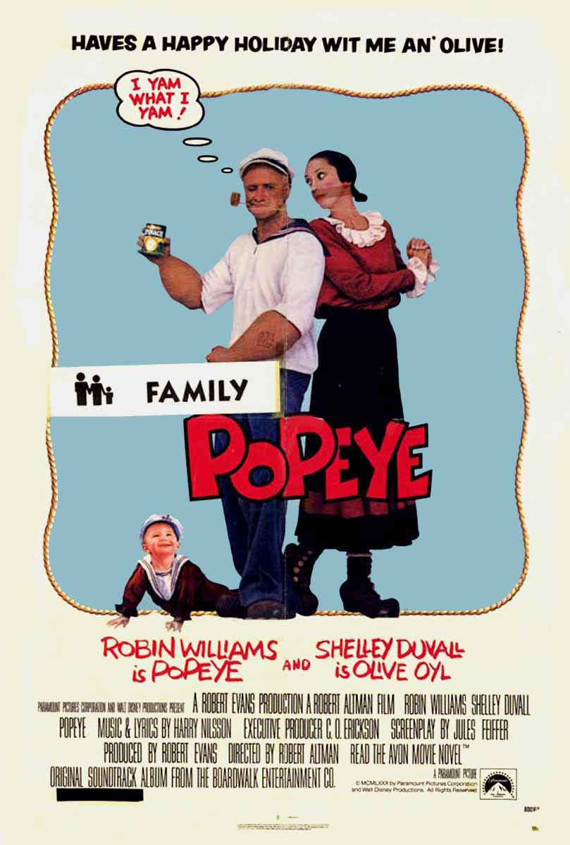 "poster for ""Popeye"" by Robert Altman(1980)"