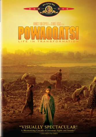 "poster for ""Powaqqatsi"" by Godfrey Reggio(1988)"