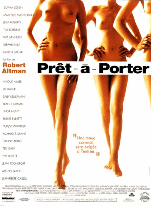 "poster for ""Pr�t � Porter"" by Robert Altman(1994)"