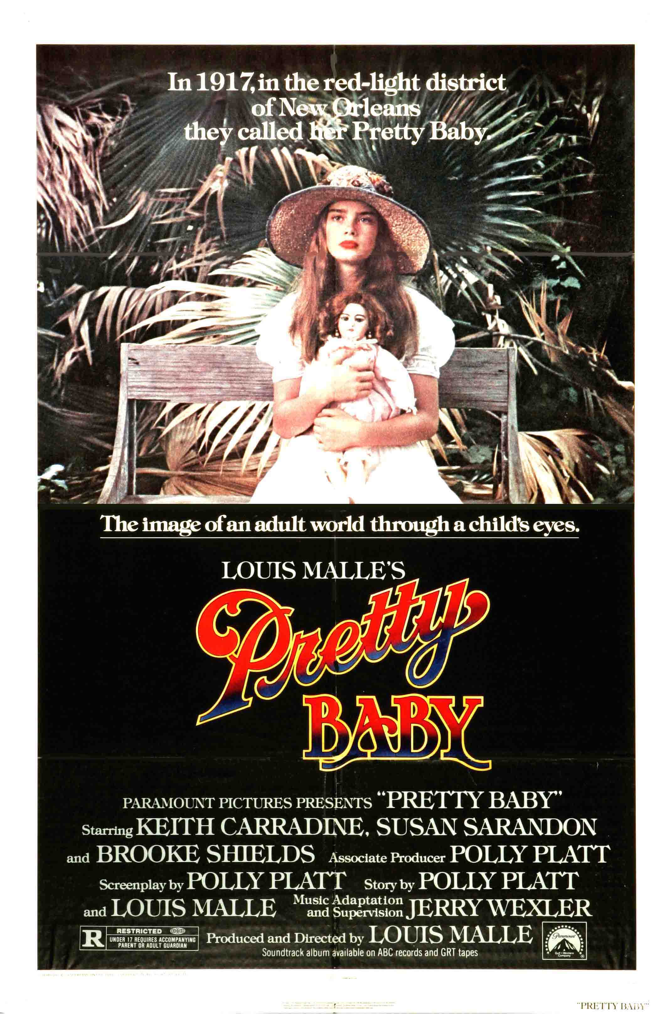 "poster for ""Pretty Baby"" by Louis Malle(1978)"