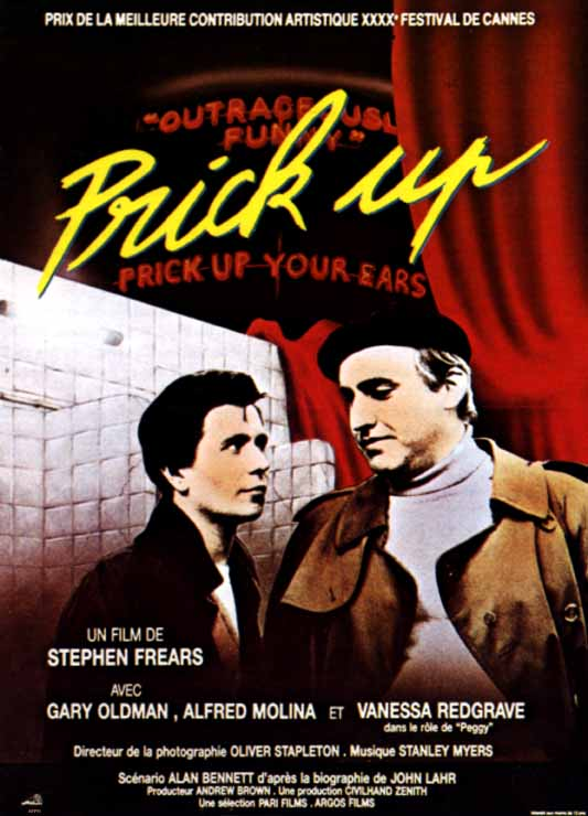 "poster for ""Prick Up Your Ears"" by Stephen Frears(1987)"
