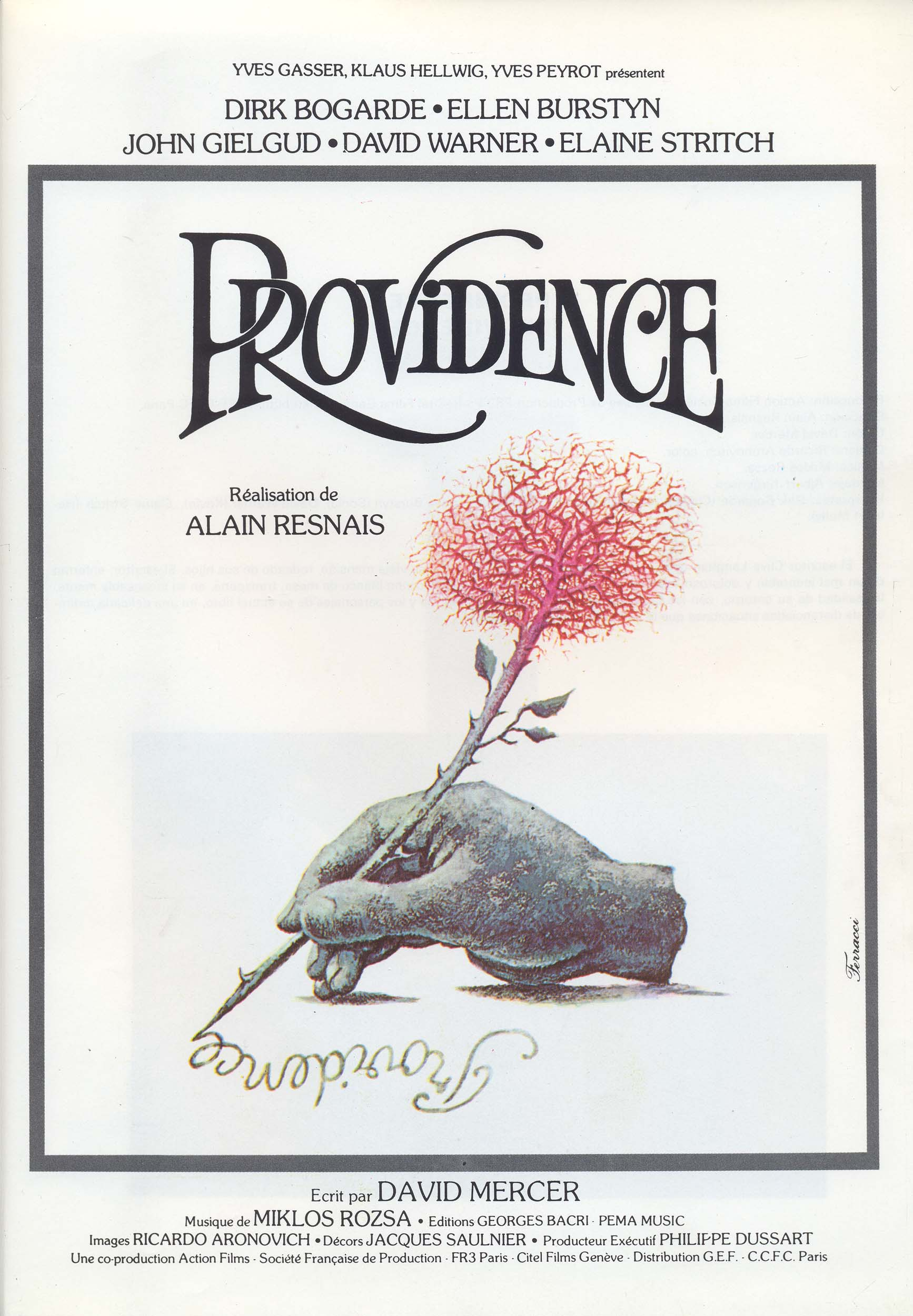 "poster for ""Providence"" by Alain Resnais (1977)"