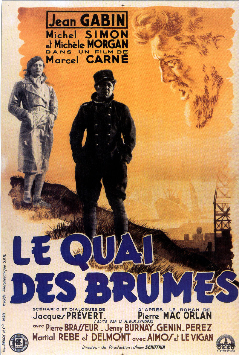"poster for ""Quai des Brumes"" by Marcel Carn� (1938)"
