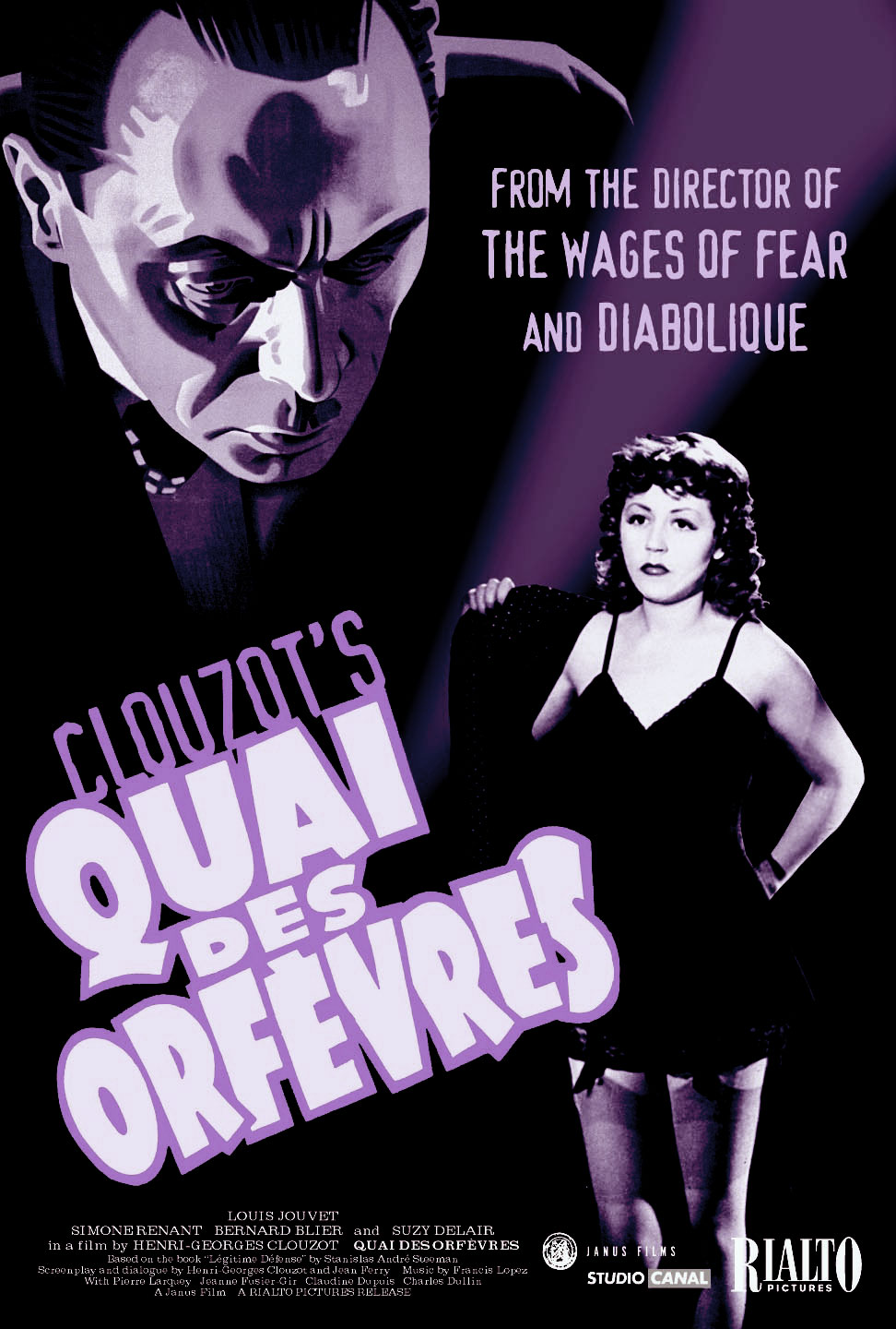"poster for ""Quai des Orf�vres"" by Henri-Georges Clouzot(1947)"