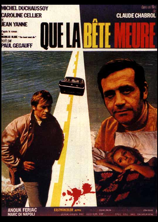 "poster for ""Que la B�te Meure (This Man Must Die)"" by Claude Chabrol (1969)"