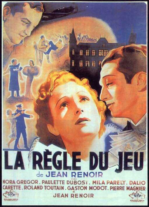 "poster for ""R�gle du jeu, La"" by Jean Renoir(1939)"