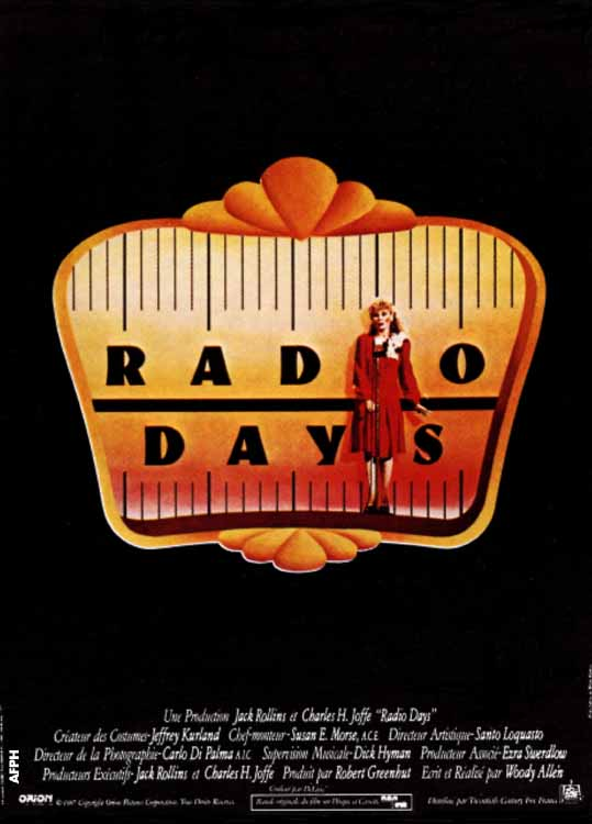 "poster for ""Radio Days"" by Woody Allen(1987)"