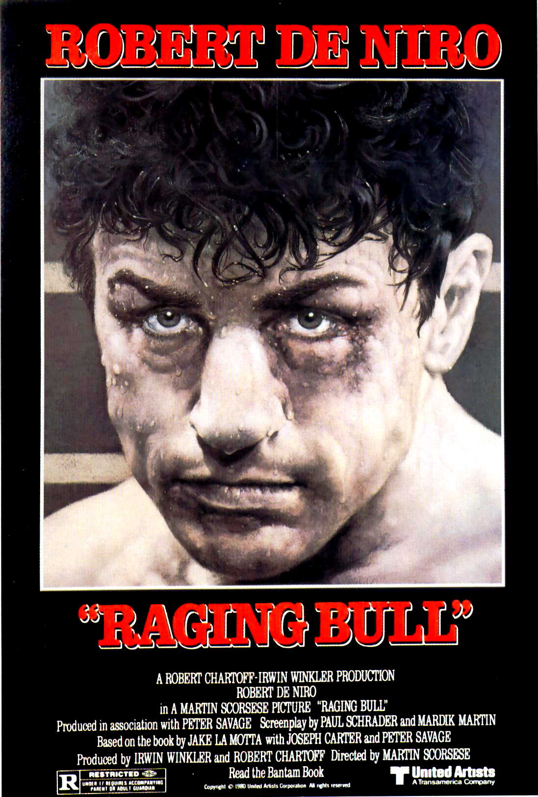 "poster for ""Raging Bull"" by Martin Scorsese(1980)"