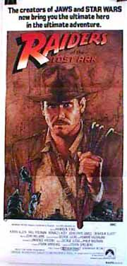 "poster for ""Raiders Of The Lost Ark&quot"