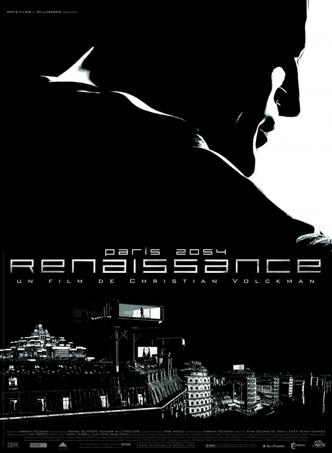 "poster for ""Renaissance"" by Christian Volckman (2006)"