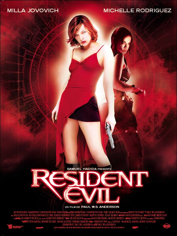 "poster for ""Resident Evil"" by Paul W.S. Anderson(2002)"