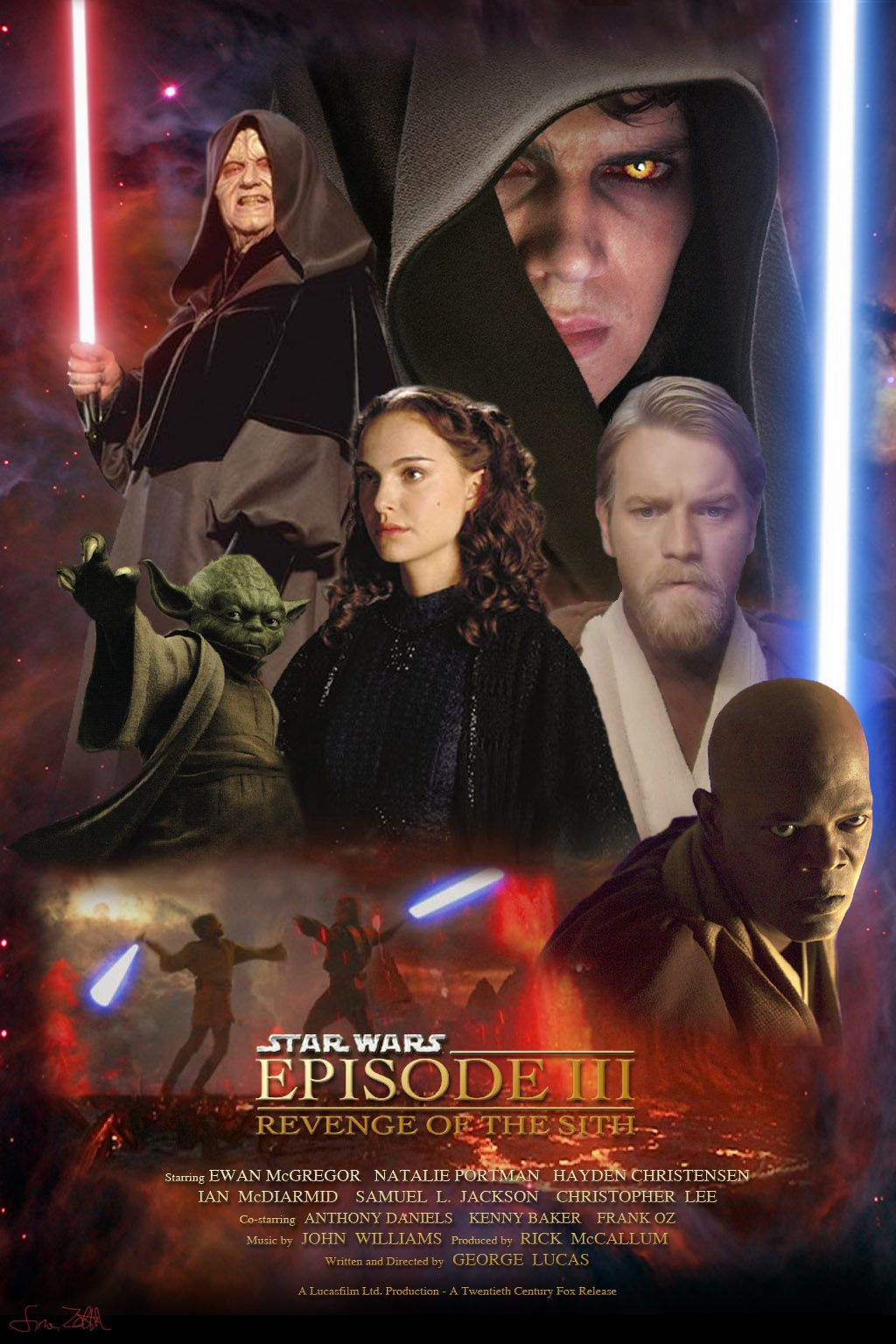 "poster for ""Star Wars: Episode III - Revenge of the Sith&quot"