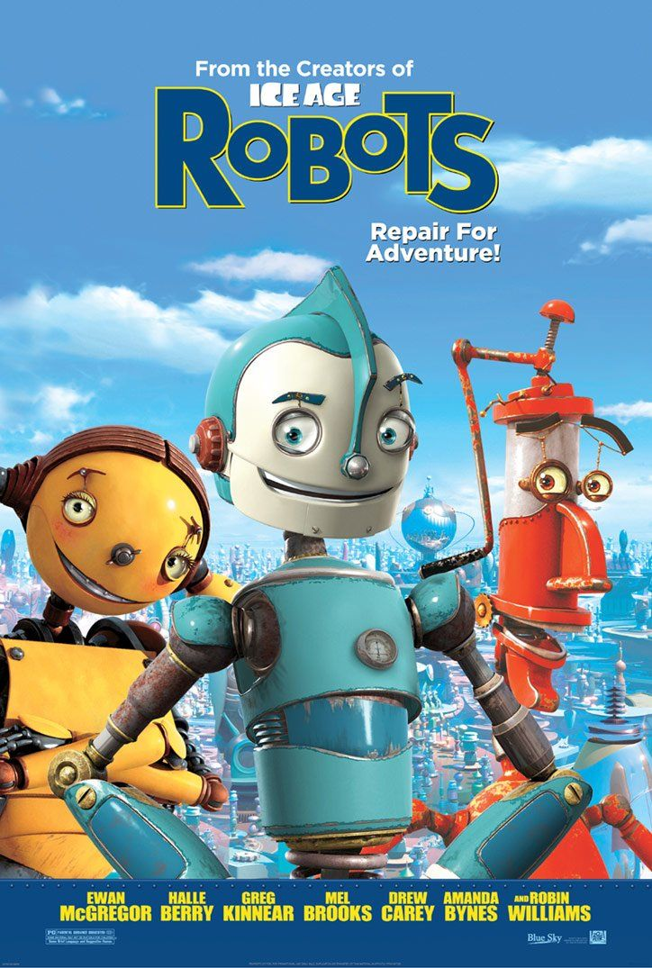 "poster for ""Robots"" by Chris Wedge 