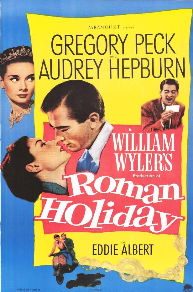 "poster for ""Roman Holiday"" by William Wyler (1953)"