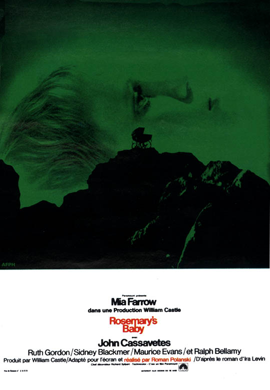 "poster for ""Rosemary's Baby"" by Roman Polanski(1968)"