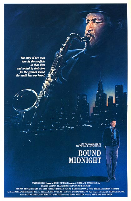 "poster for ""Round Midnight"" by Bertrand Tavernier(1986)"