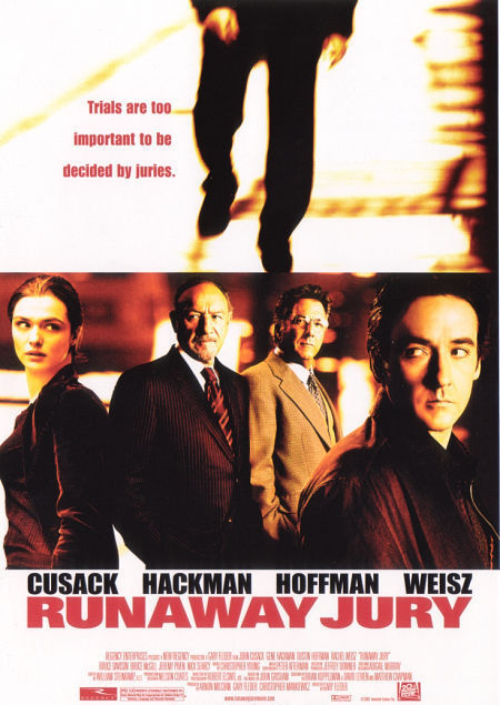 "poster for ""Runaway Jury"" by Gary Fleder (2003)"