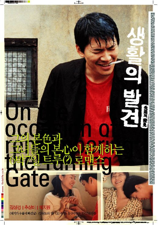"poster for ""Saenghwalui balgyeon (On the occasion of remembering the turning gate)"" by Sang-soo Hong(2002)"