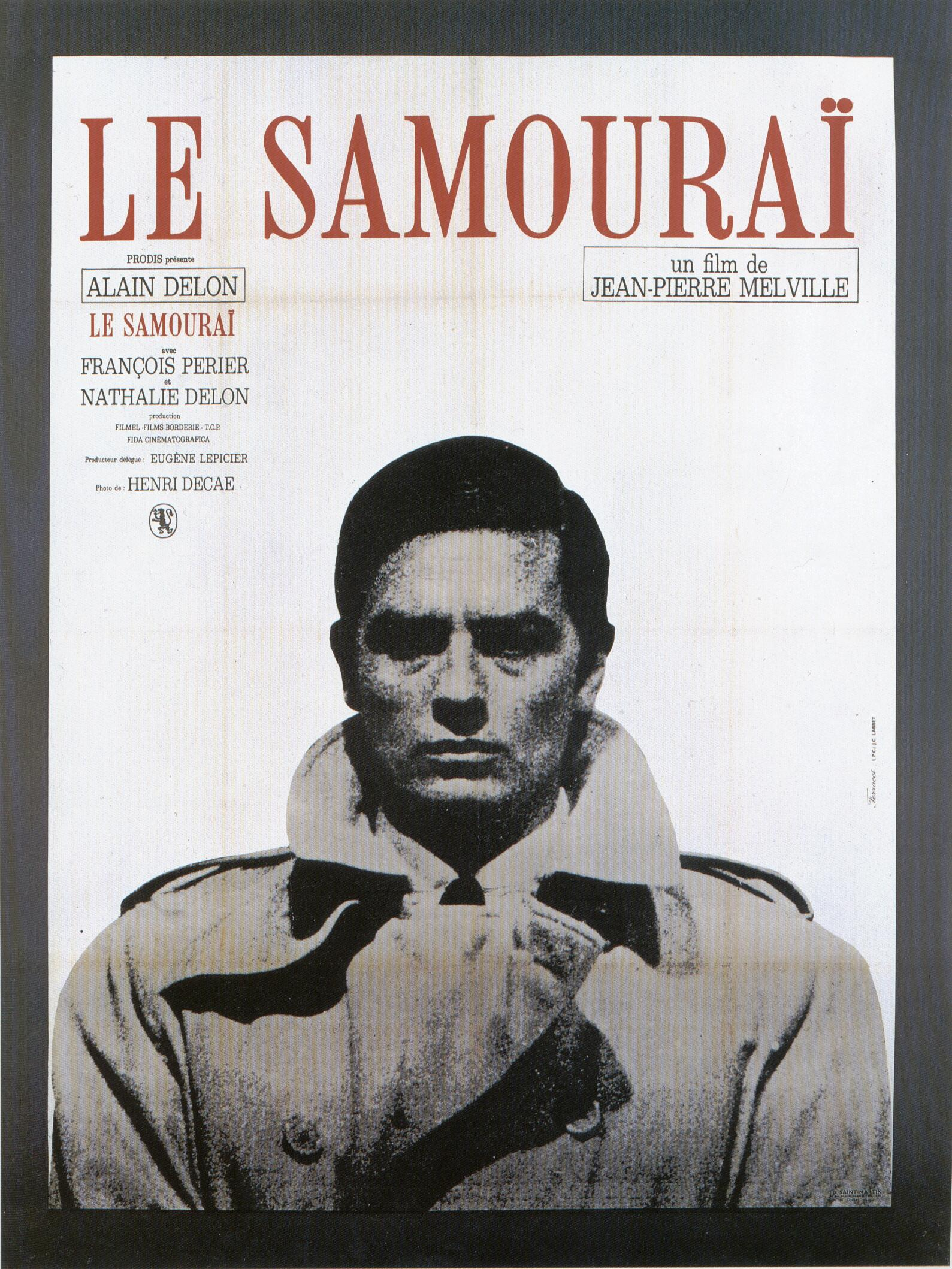 "poster for ""Samourai, Le"" by Jean-Pierre Melville(1967)"