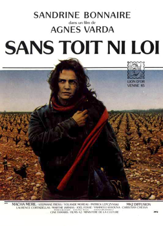 "poster for ""Sans Toit Ni Loi"" by Agn�s Varda (1985)"