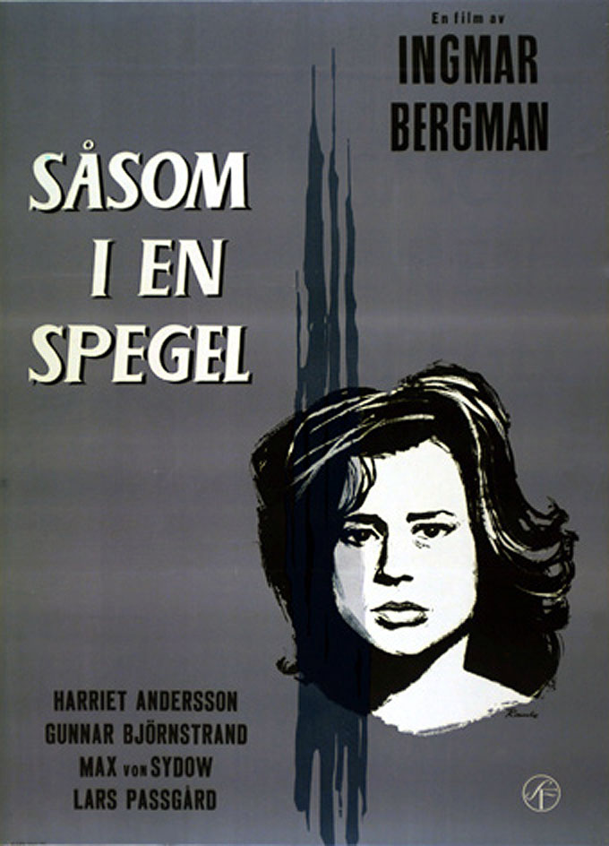 "poster for ""S�som i en spegel (Through a Glass, Darkly)"" by Ingmar Bergman(1961)"