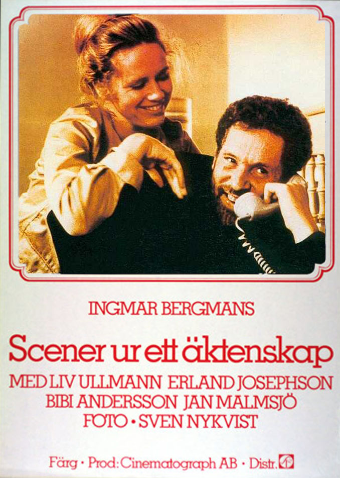 "poster for ""Scener Ur Ett �ktenskap (Scenes From a Marriage)"" by Ingmar Bergman(1973)"