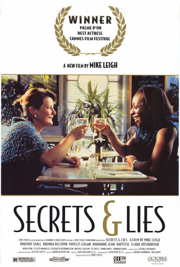 "poster for ""Secrets & Lies"" by Mike Leigh(1996)"