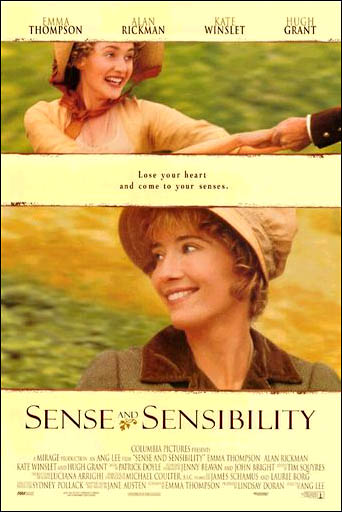 "poster for ""Sense and Sensibility"" by Ang Lee(1995)"