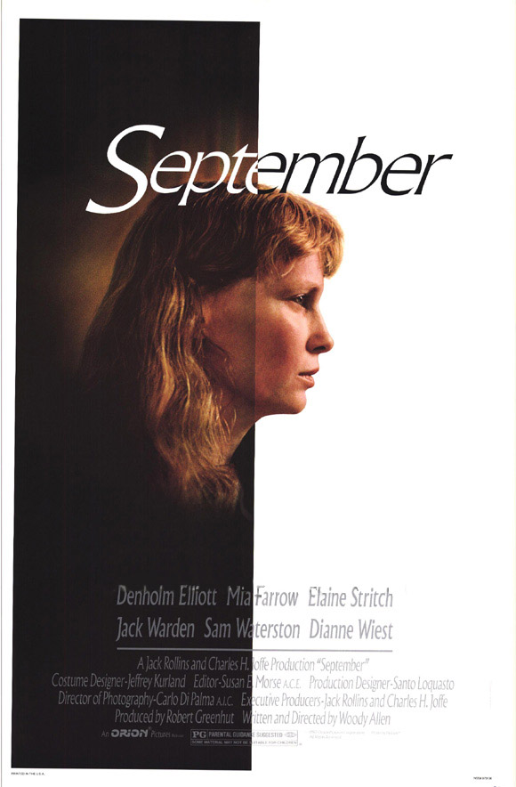 "poster for ""September"" by Woody Allen(1987)"
