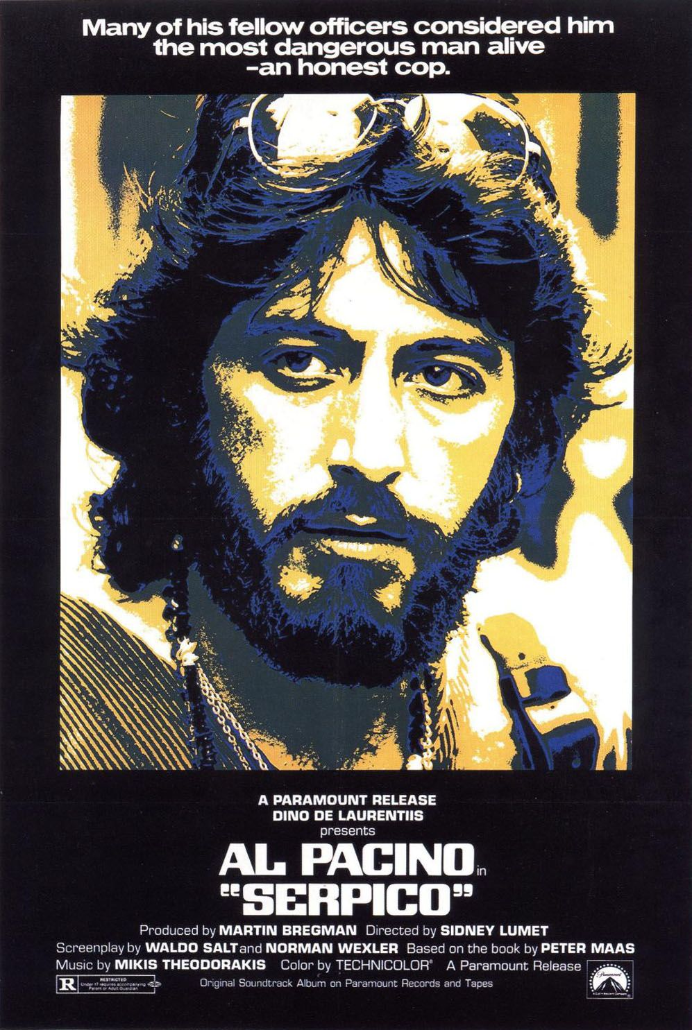 "poster for ""Serpico"" by Sidney Lumet(1973)"