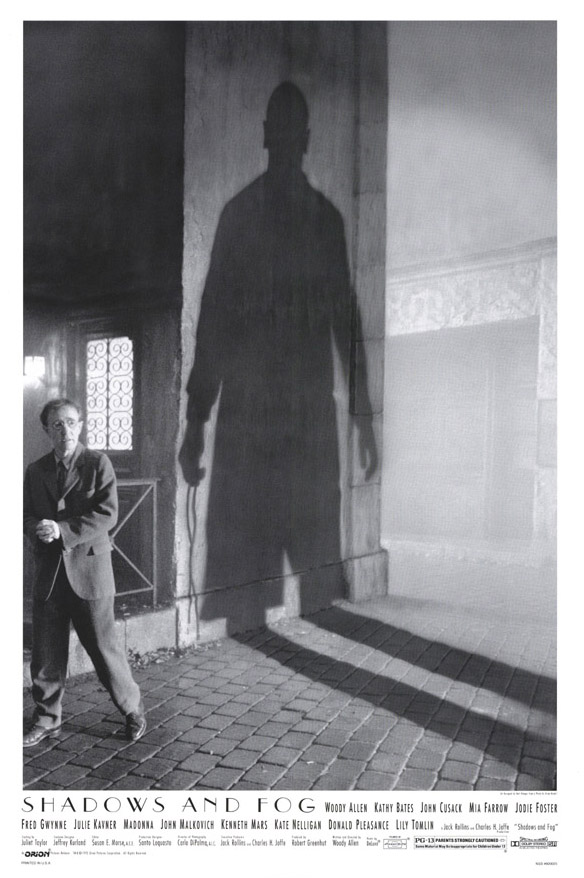 "poster for ""Shadows And  Fog"" by Woody Allen (1992)"